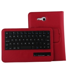 Ulasan Tentang Bluetooth Keyboard Stand Cover For Samsung Galaxy Tab 3 Lite Red
