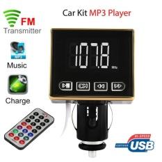 Bluetooth MP3 Pemain Pemancar FM Modulasi Mobil Kit USB SD TF MMC LCD Remote-Intl