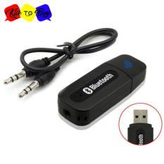 Bluetooth Music Receiver USB Audio Dongle 3.5mm UNTUK SPEAKER DAN HANDPHONE IOS / ANDROID - Hitam