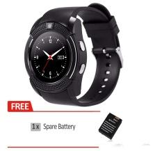 Bluetooth Smart Watch V8 SIM Kartu TF Card HD Layar Melingkar Smart Jam Tangan Ponsel Mate untuk Android Smangsung LG- INTL