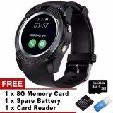 Obral Bluetooth Smart Watch V8 Sim Kartu Tf Card Hd Layar Melingkar Smart Jam Tangan Ponsel Mate Banyak Cermin Smangsung Lg Murah