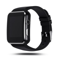 Bluetooth Smart Watch X6 Smart Jam Tangan untuk Apple IPhone Android Ponsel dengan Kamera FM Mendukung