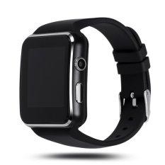 Bluetooth Smart Watch X6 Smartwatch untuk IPhone Android Ponsel Penopang SIM Kartu dengan Kamera FM Facebook Twitter Whats App (HITAM) (Intl)