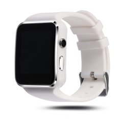 Bluetooth Smart Watch X6 Smartwatch untuk IPhone Android Ponsel Penopang SIM Kartu dengan Kamera FM Facebook Twitter Whats App (White) (Intl)