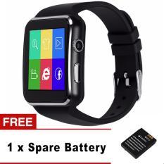 Bluetooth Smart Watch X6 Smartwatch Sport Jam Tangan untuk Apple IPhone Android Ponsel dengan Kamera FM Penopang SIM Kartu-Intl