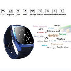 Bluetooth Smart Wrist Watch M26 Sync untuk Android IPhone Samsung HTC Hitam