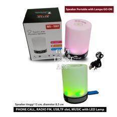 Jual Bluetooth Speaker Lampu Sentuh Go On Multicolor Lengkap
