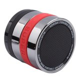 Cuci Gudang Bluetooth Speaker Mini Metal Super Bass Portable Bluetooth Speaker S302 Merah