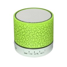 Bluetooth Speaker Wireless Hands Free dengan USB2.0 Micro SD Card Slot 3.5mm Audio Built-In LED Lampu MIC Bass Sub Woofer (hijau Muda) -Intl