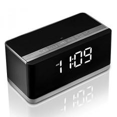 Bluetooth Speaker dengan Jam Alarm Radio, XPLUS Portable Wireless Speaker Bass Yang Dalam, Hands-Free, Radio FM, USB HOST, Slot Kartu TF, Speaker Sempurna untuk Outdoor/Indoor, Hadiah Bagus (Hitam)-Intl