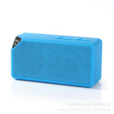 Bluetooth Speaker dan Subwoofer Speaker Ganda Di Kecil Stereo mini Card handphone (Biru)-Intl