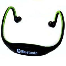 Bluetooth Sports Headset Untuk Android Dan Iphone Bth 404 Hitam Hijau Asli