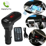 Model Bluetooth Wireless Fm Transmitter Mp3 Player Handsfree Car Kit Usb Tf Sd Remote Intl Terbaru
