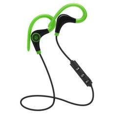 Beli Bluetooth Nirkabel Stereo Earbud Ipx4 Sweatproof Sport Earphone Dengan Mic Secure Earhook Untuk Iphone Tablet Ponsel Android Warna Hijau Intl Murah