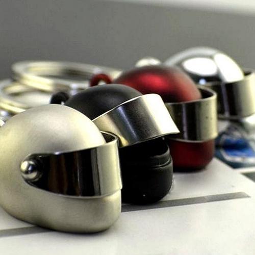 BODHI Baru Kreatif Keren Motor Helm Sepeda Logam Gantungan Kunci Keyring-Intl