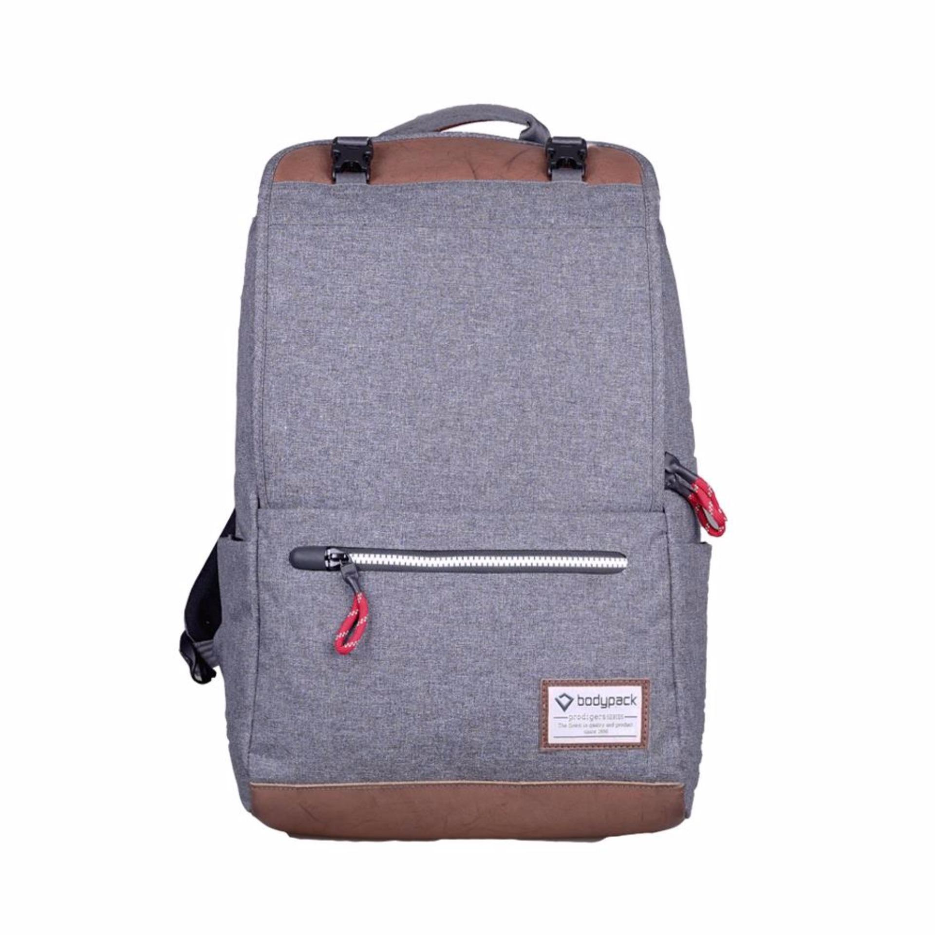 Bodypack Prodigers Tas Laptop Pria Boston - Abu 0dd4dd19dd