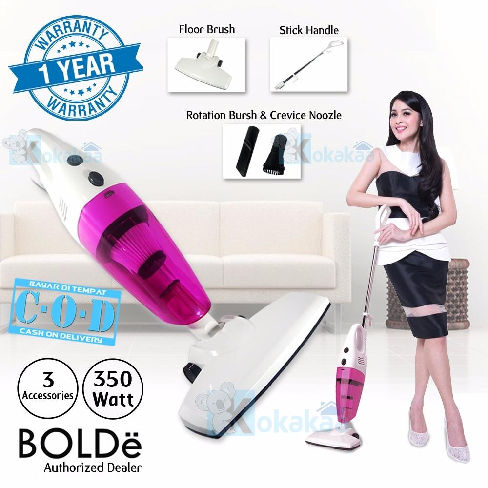 Cara Beli Bolde Super Turbo Hoover Vacuum Cleaner Home Portable 2 In 1 Pink