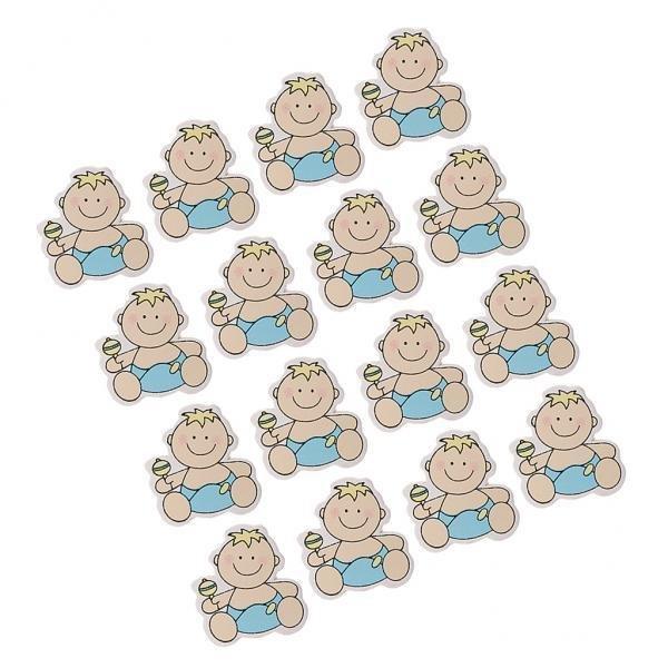 Rp 38.000 BolehDeals 16 Pieces DY Kartun Potongan Kayu Scrapbooking Baby Shower Dekorasi Yang 5-IntlIDR38000