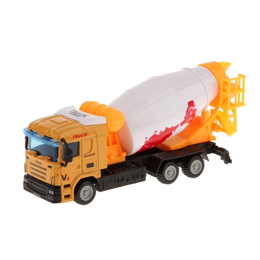 BolehDeals 1: 64 Diecast Semen Mixer Truk Model Kendaraan Mobil Mainan (International)-International