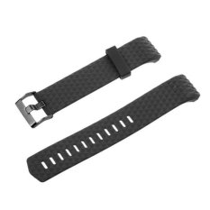 Bolehdeals 3D Silicone Gel Wrist Band Strap Buckle For Fitbit Charge 2 Bracelet Black Intl Diskon Tiongkok
