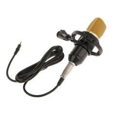 Spesifikasi Bolehdeals Bm700 Broadcasting Recording Condenser Microphone Plastic Shock Mount Black Intl