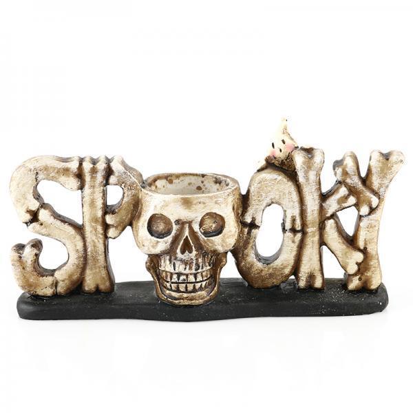 Jual Bolehdeals Damar Tengkorak Tealight Candle Holder Tabletop Halloween Dekorasi Antik Kuning Intl Di Bawah Harga
