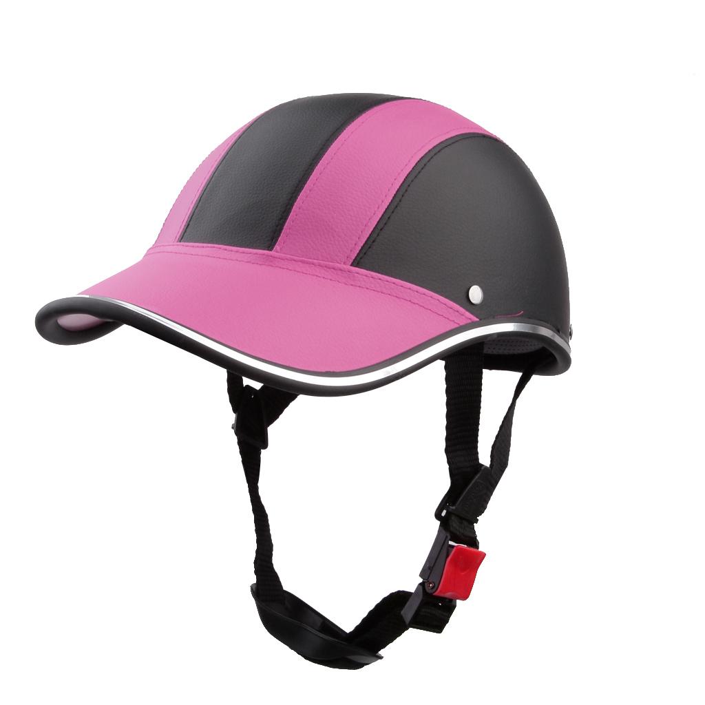 Dapatkan Segera Bolehdeals Motor Dari Kulit Pu Topi Helm Motorcross Setengah Terbuka Kedok Wajah Berwarna Merah Muda Internasional