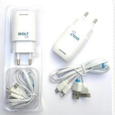 Bolt Travel Charger 2.1 Ampere 3 in 1 Mini USB, Iphone 4 5 & 6 Fast Charging