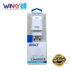 Bolt Travel Charger USB Output 2.1A 3 in 1 - Putih