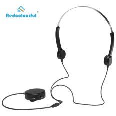 Beli Tulang Konduksi Headphone Alat Bantu Dengar Headset Suara Amplifier Perawatan Kesehatan Headphone Untuk Orang Dengan Gangguan Pendengaran Hitam Cicil