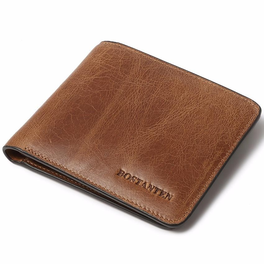 Penawaran Istimewa Bostanten Men S Genuine Cowhide Leather Wallets 2018 New Rfid Blocking Multi Card Slots With A Gift Box Intl Terbaru