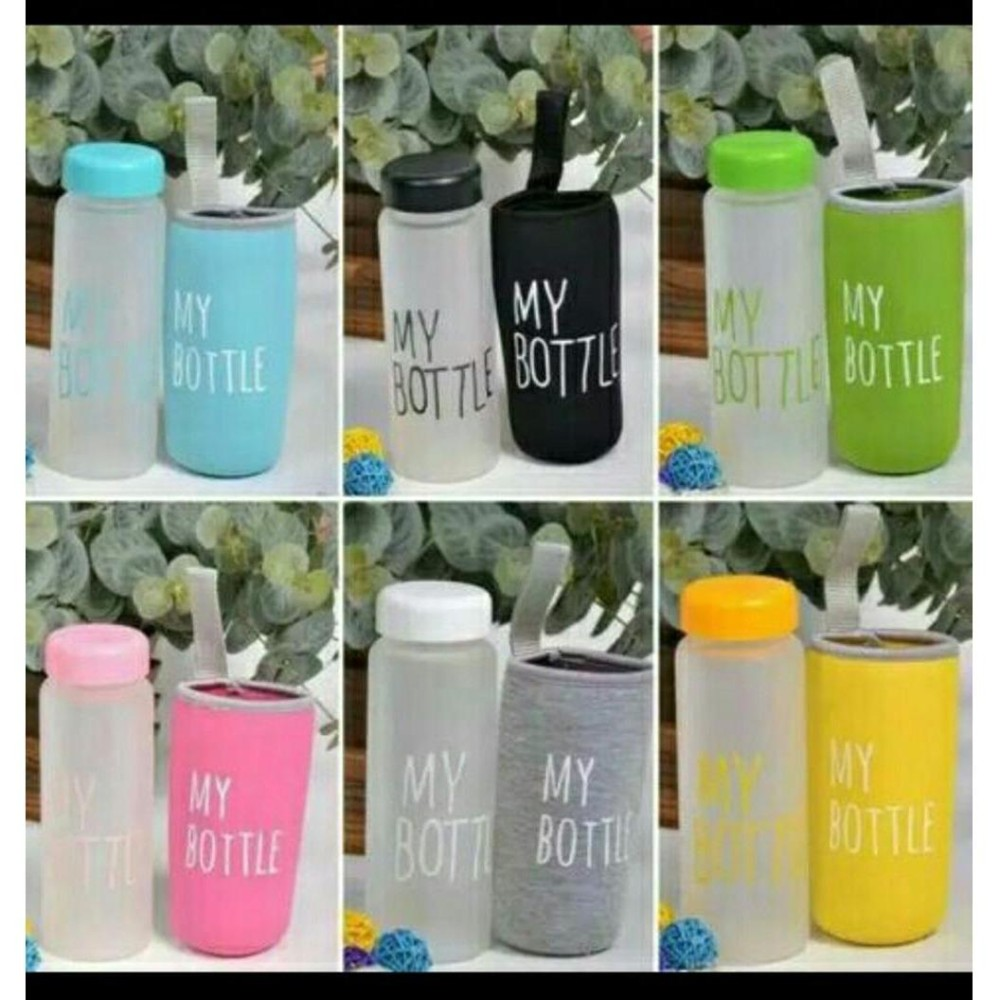 Botol Minum Air My Bottle Doff Free Pouch Busa - My Bottle Doff Water Drinking Free Pouch - Babamu