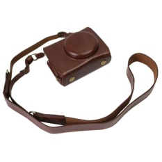Versi Pembukaan Bawah PU Leather Camera Case Bag ForPanasonicLUMIX DMC-LX10 dengan Shoulder Neck Strap Belt-Intl
