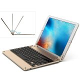 Spesifikasi Bow Socket Tipe 7 Warna Backlit Bluetooth 3 Keyboard Untuk Ipad Air 2 Hb102B Hitam Emas Intl Terbaru