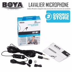 Boya BY-M1 Clip-On Lavalier Microphone for DSLR/Digital Camera/Mirrorless/Smartphone/PC