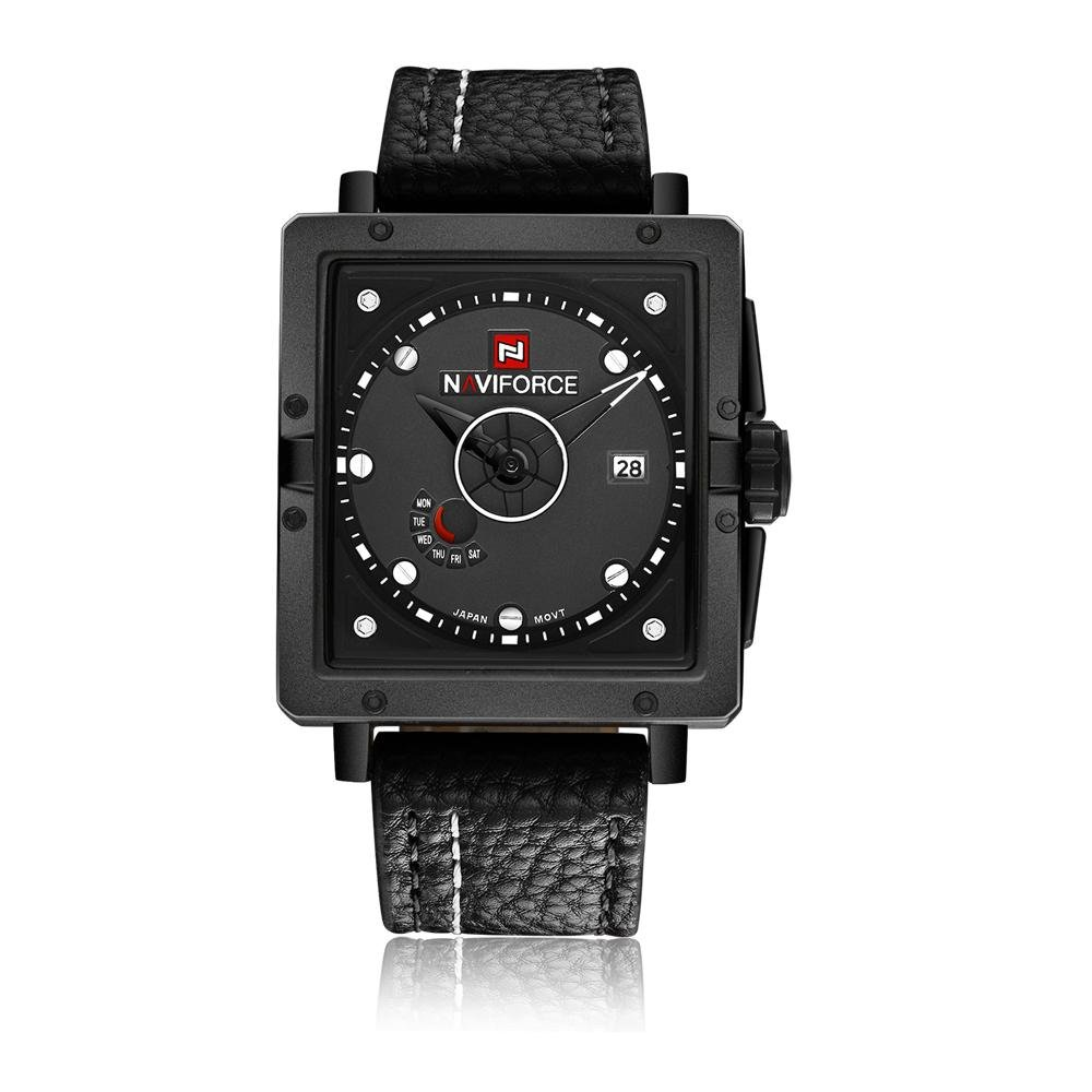 boyun NAVIFORCE new men's watch calendar week waterproof quartz watch fashion belt (white) - intl