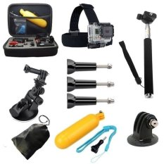 Brand New Action camera Accessories Bag+Head+Selfie Stick Tripod+Floating For Go Pro Hero 1 2 3 3+ 4 4+ - intl