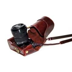 Barang Baru Kualitas Tinggi Modis Universal PU Kulit Kamera Casing dengan Tali Kamera 3 Warna UNTUK Olympus EM1 OMD E-M1 Kamera tas-Internasional