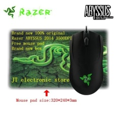 Brand New Original Razer Abyssus 2014 Ambidextrous Gaming Mouse 3500 Dpi Sensor Optik 3 Tombol Hyperesponse Yang Dapat Diprogram Free Mouse Pad Intl Razer Diskon 50