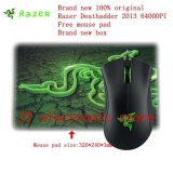 Diskon Brand New Original Razer Deathadder 2013 Gaming Mouse 6400Dpi 4G The Game Mouse Free Razer Mouse Pad Retail Box Intl Razer