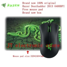 Harga Brand New Original Razer Deathadder 2013 Gaming Mouse 6400Dpi 4G The Game Mouse Free Razer Mouse Pad Retail Box Intl Razer Terbaik