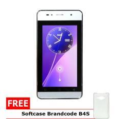 Brandcode Mate 2 B4S Pro - 512MB/512MB - Putih + Gratis Softcase