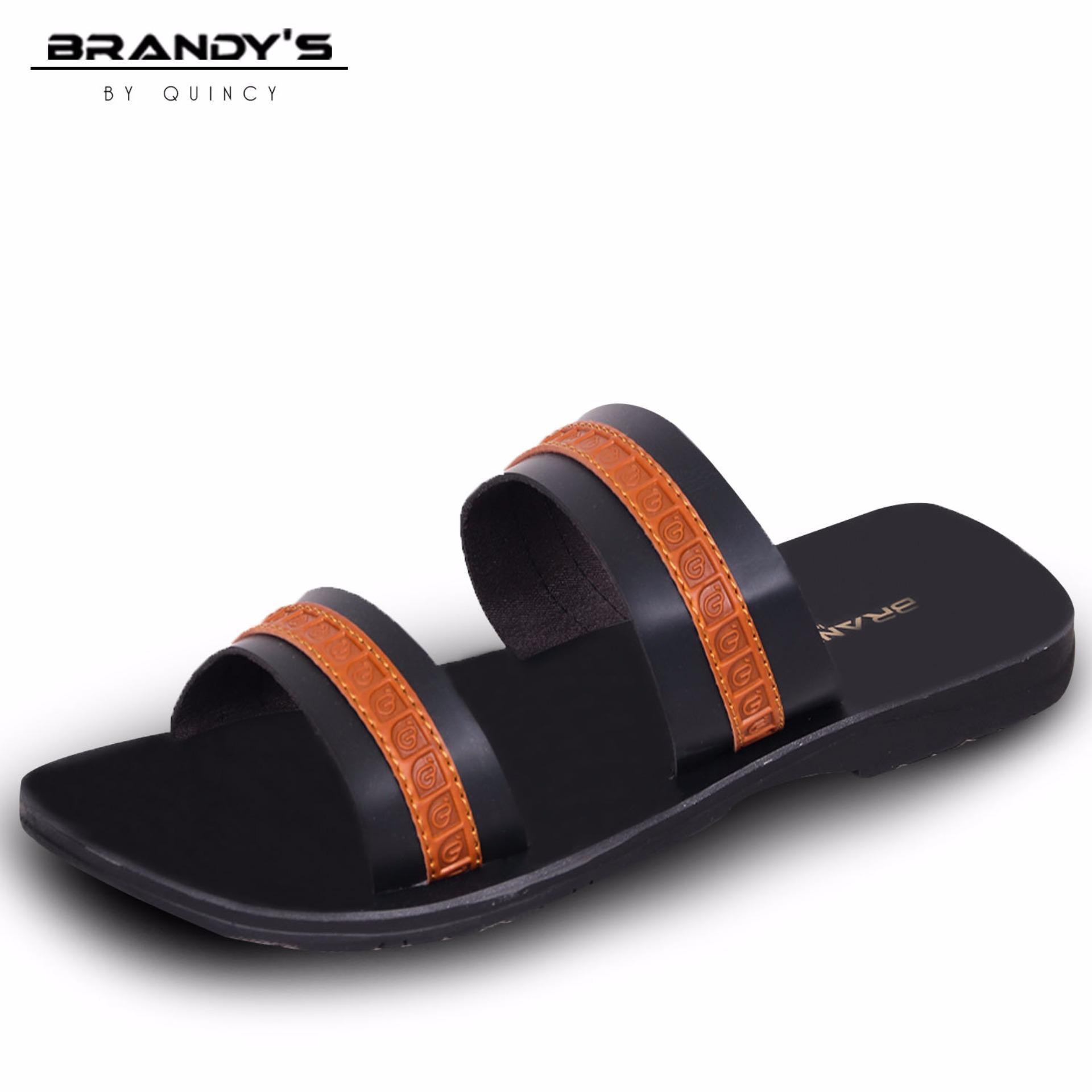 Beli Brandys Jose Sandal Kulit Pria Black Seken