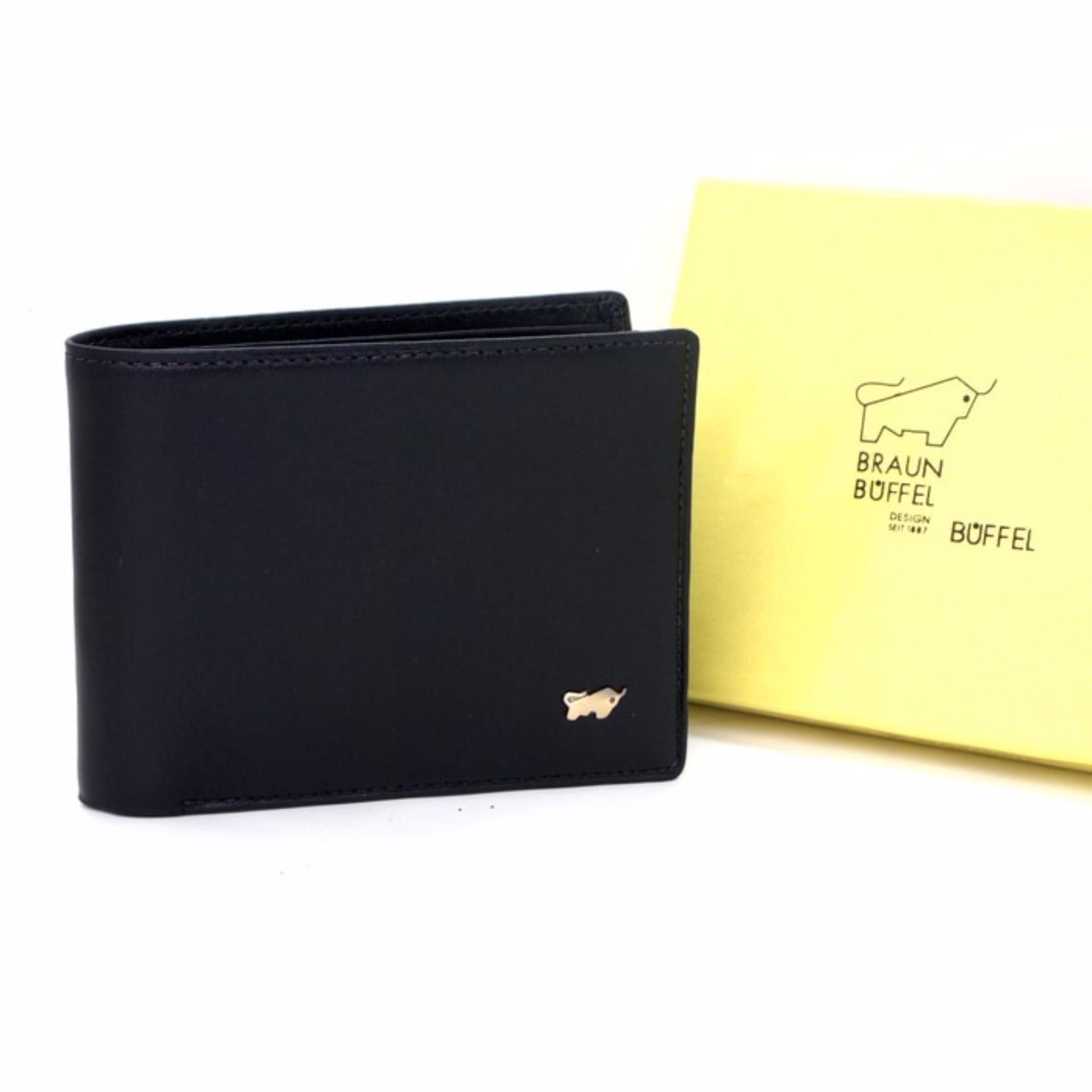 Promo Braun Buffel Black Dompet Kulit Pria Tidur Murah