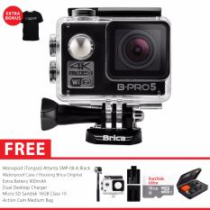 Spesifikasi Brica B Pro 5 Ae Mark Ii Ae2 4K Wifi Action Camera Combo Attanta Awesome Hitam Dan Harga