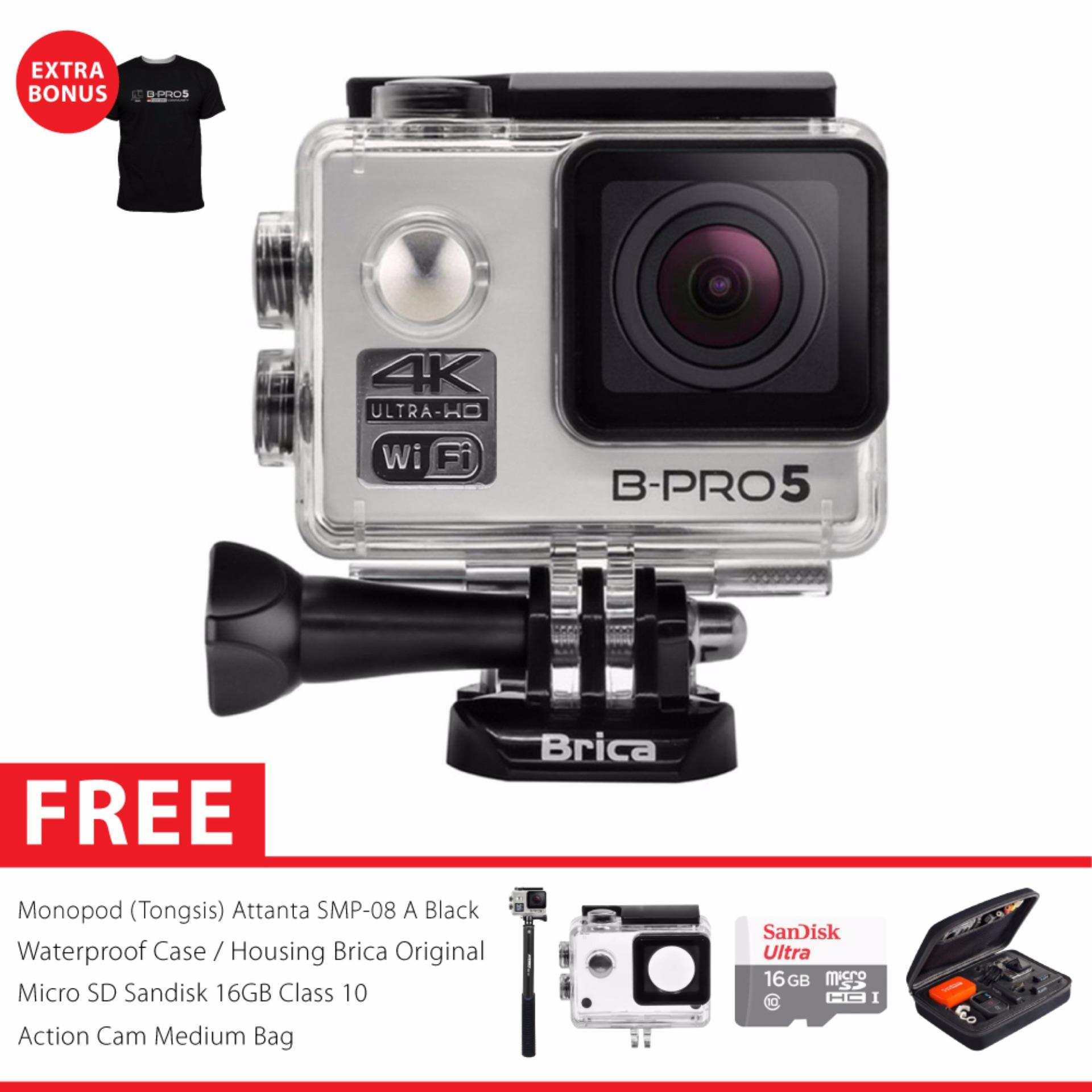 Beli Brica B Pro 5 Alpha Edition 2 Ae2 4K Wifi Action Camera Combo Attanta Deluxe Silver Cicil