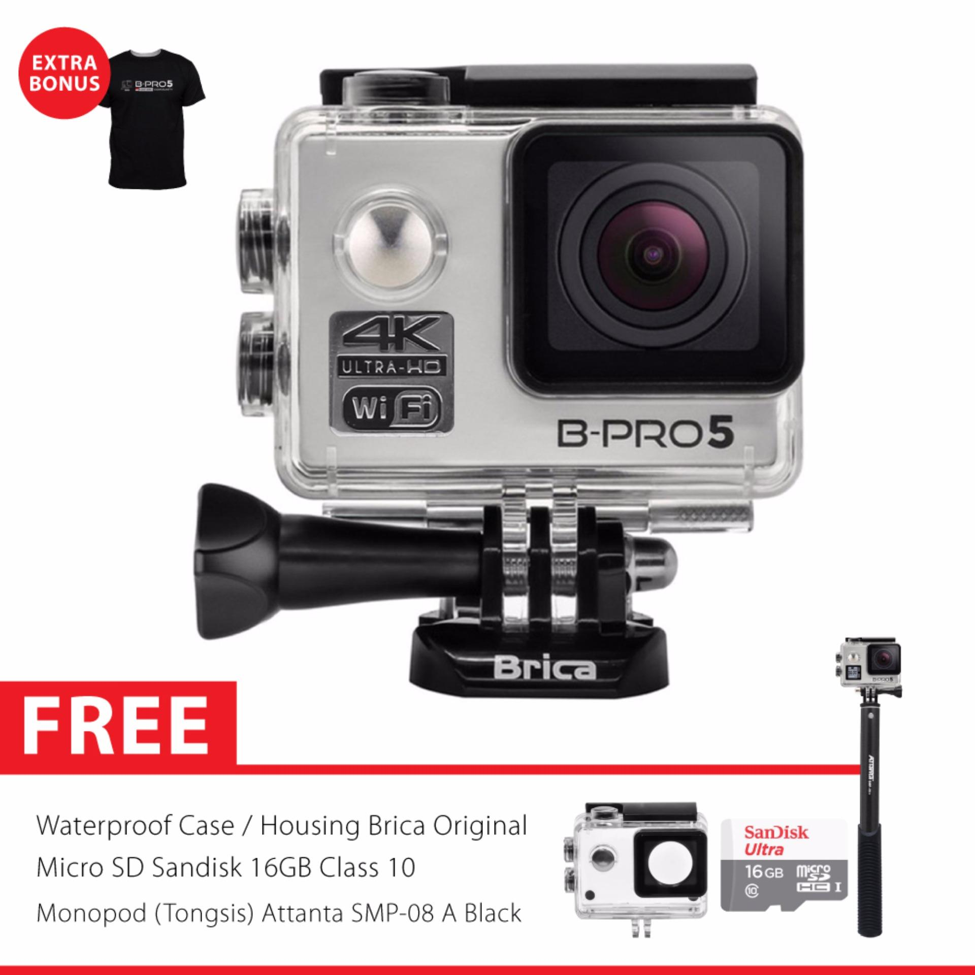 Beli Brica B Pro 5 Alpha Edition 2 Ae2 4K Wifi Action Camera Combo Attanta Supreme Silver Cicilan
