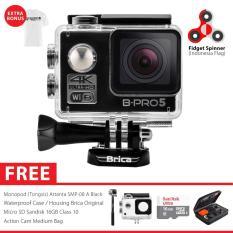 BRICA B-PRO 5 Alpha Edition 2 (AE2) 4K WIFI Action Camera Combo Attanta Deluxe SpinIndo - Hitam