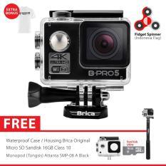 BRICA B-PRO 5 Alpha Edition 2 (AE2) 4K WIFI Action Camera Combo Attanta Supreme SpinIndo - Hitam