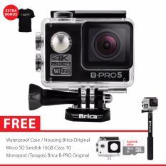 BRICA B-PRO 5 Alpha Edition 2 (AE2) 4K WIFI Action Camera Combo Brica Supreme - Hitam
